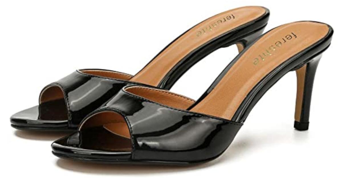 French Maid Sissy High Heels